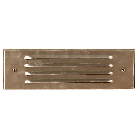 Brass Four Louver Brick Step Light