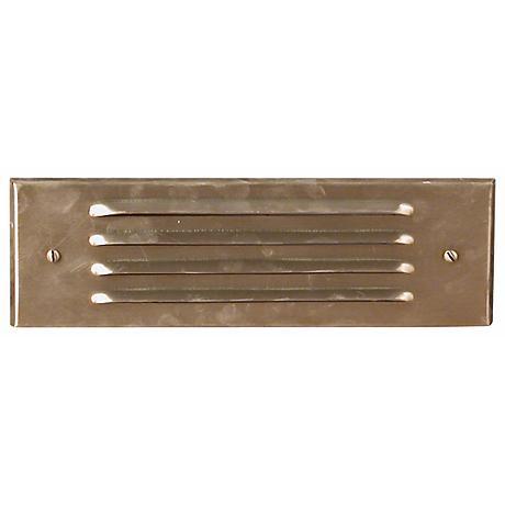 Brass Four Louver Brick Step Light