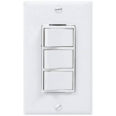 White 3-Rocker 4-Function Wall Switch