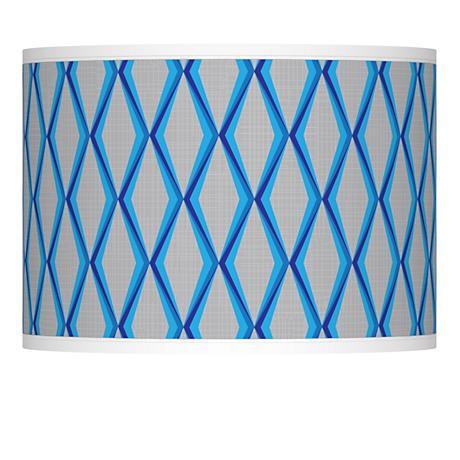 Bleu Matrix Giclee Lamp Shade 13.5x13.5x10 (Spider)
