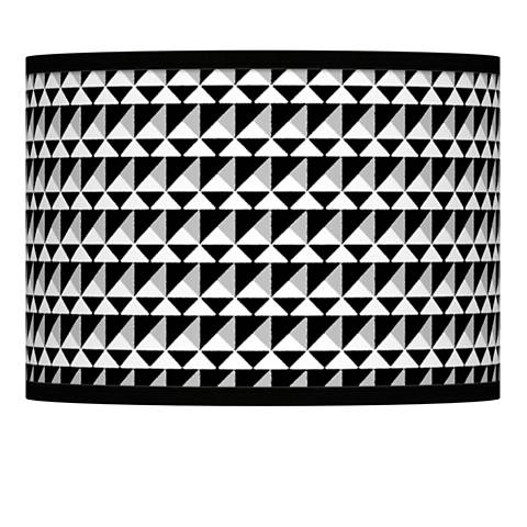 Triangle Illusion Giclee Lamp Shade 13.5x13.5x10 (Spider)