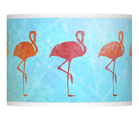 Flamingo Shade Giclee Lamp Shade 13.5x13.5x10 (Spider)