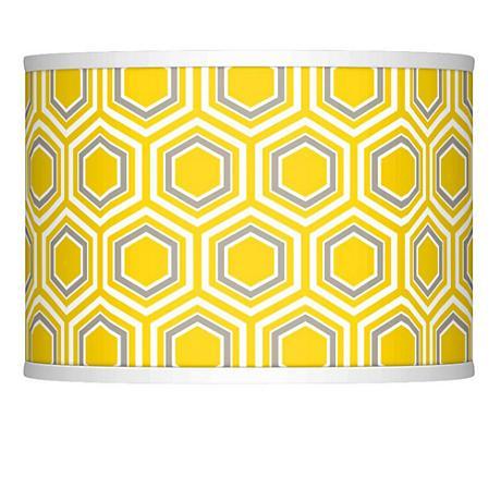 Honeycomb Giclee Glow Lamp Shade 13.5x13.5x10 (Spider)