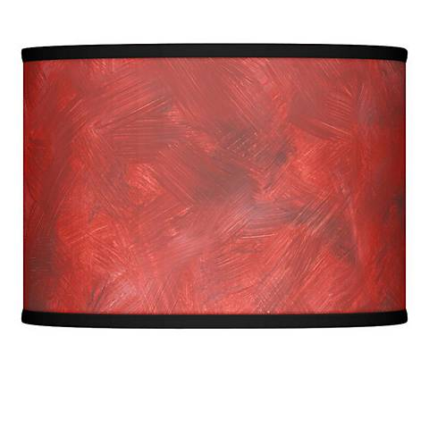 Red Abstract Giclee Glow Lamp Shade 13.5x13.5x10 (Spider)