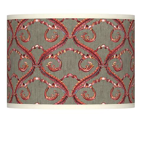 Orleans Red Giclee Glow Lamp Shade 13.5x13.5x10 (Spider)