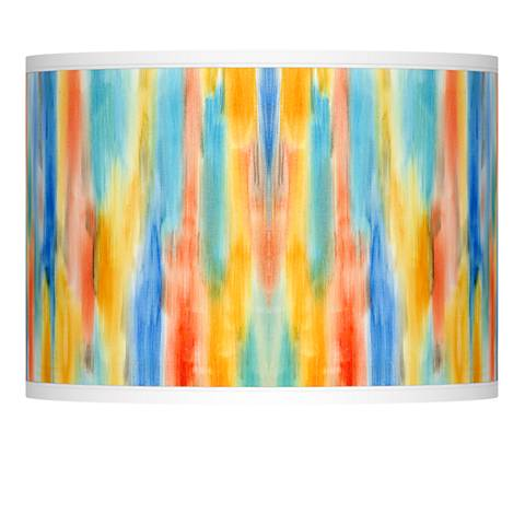 Tricolor Wash Giclee Lamp Shade 13.5x13.5x10 (Spider)