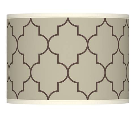 Tangier Taupe Giclee Lamp Shade 13.5x13.5x10 (Spider)
