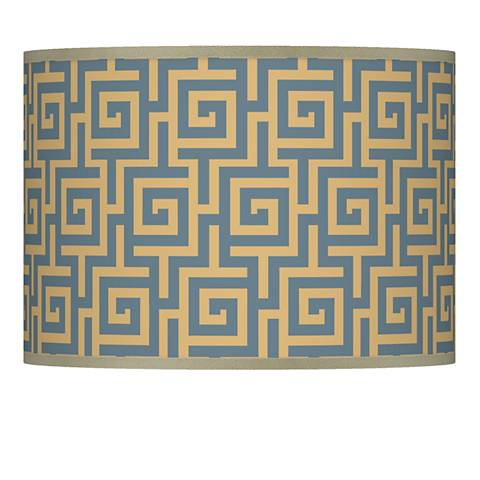Greek Key Storm Giclee Lamp Shade 13.5x13.5x10 (Spider)
