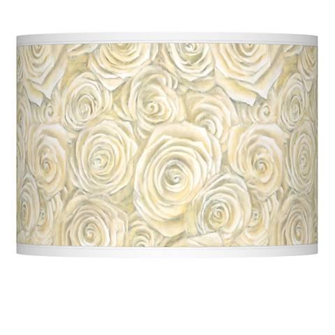 Cream Roses Giclee Lamp Shade 13.5x13.5x10 (Spider)