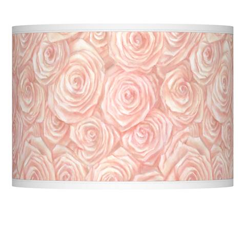 Pink Roses Giclee Lamp Shade 13.5x13.5x10 (Spider)