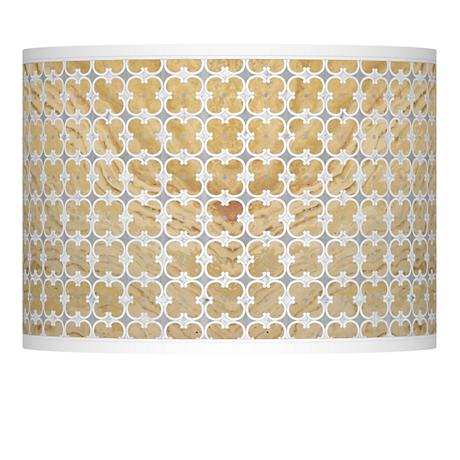 Marble Quatrefoil Giclee Lamp Shade 13.5x13.5x10 (Spider)