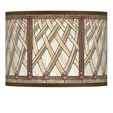 Woven Willow Giclee Lamp Shade 13.5x13.5x10 (Spider)