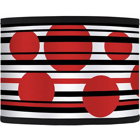 Red Balls Giclee Glow Lamp Shade 13.5x13.5x10 (Spider)