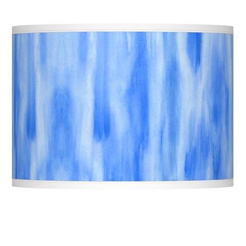 Blue Tide Giclee Lamp Shade 13.5x13.5x10 (Spider)