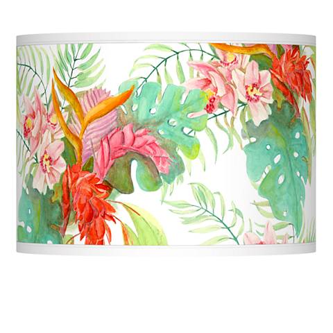 Island Floral Giclee Lamp Shade 13.5x13.5x10 (Spider)