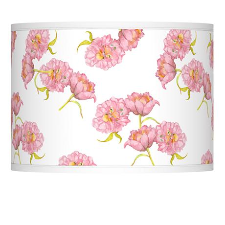 Pretty Peonies Giclee Lamp Shade 13.5x13.5x10 (Spider)