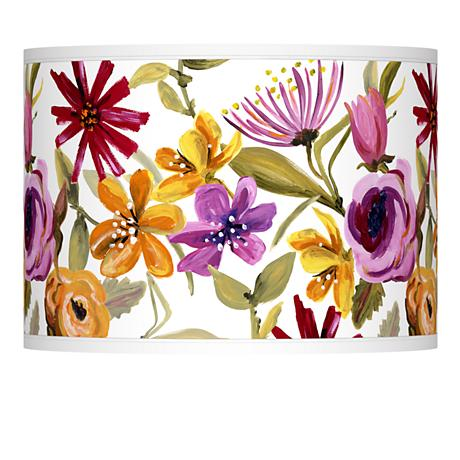 Bountiful Blooms Giclee Lamp Shade 13.5x13.5x10 (Spider)
