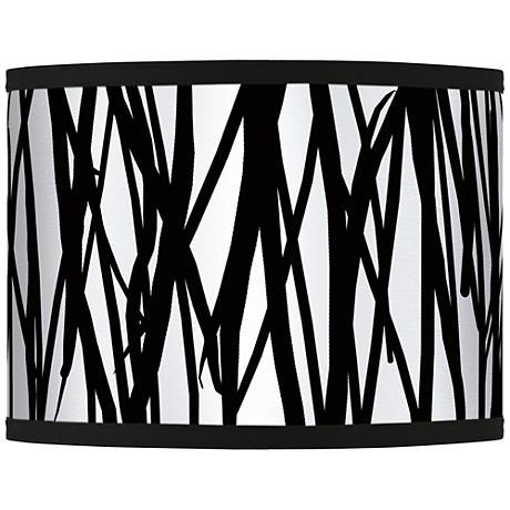 Black Jagged Stripes Giclee Glow Shade 13.5x13.5x10 (Spider)