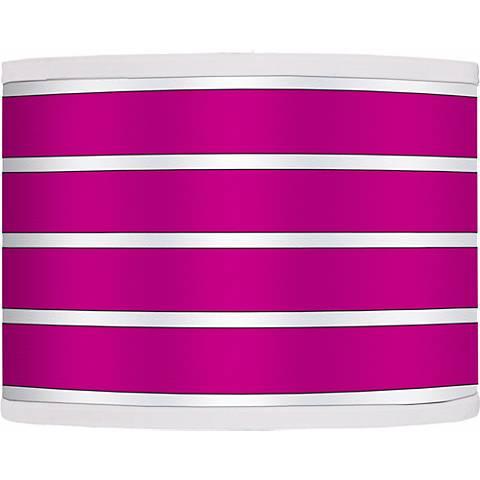 Bold Pink Stripe Giclee Shade 13.5x13.5x10 (Spider)