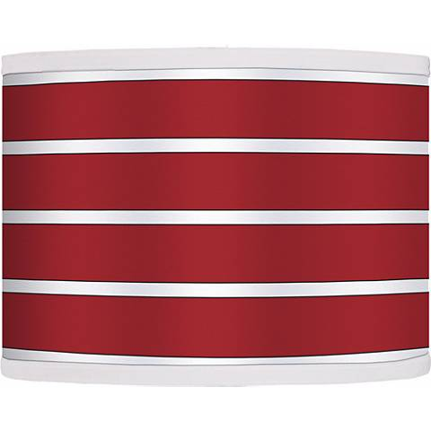 Bold Red Stripe Giclee Glow Shade 13.5x13.5x10 (Spider)