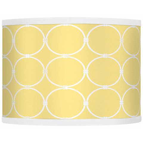 Lemon Interlace Giclee Glow Drum Shade 13.5x13.5x10 (Spider)