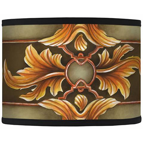 Etruscan Sunset Giclee Drum Shade 13.5x13.5x10 (Spider)