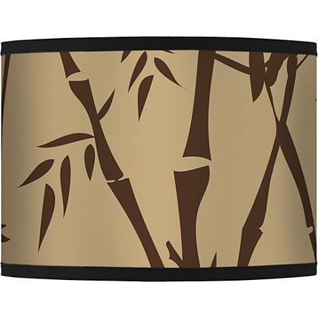 Earth Bamboo Giclee Glow Lamp Shade 13.5x13.5x10 (Spider)