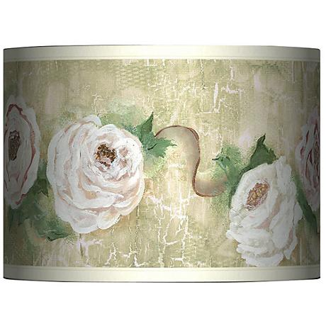 Tea House Rose Giclee Glow Lamp Shade 13.5x13.5x10 (Spider)