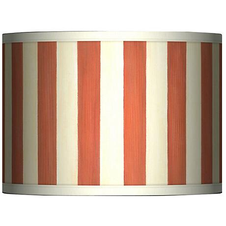 Seaside Stripe Red Giclee Glow Lamp Shade 13.5x13.5x10 (Spider)