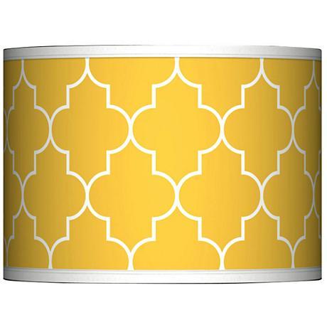 Tangier Yellow Giclee Glow Lamp Shade 13.5x13.5x10 (Spider)
