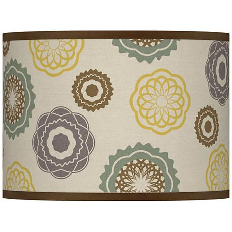 Ornaments Linen Giclee Glow Drum Shade 13.5x13.5x10 (Spider)