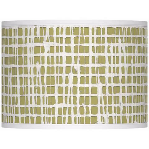 Ecru Screen Linen Giclee Glow Lamp Shade 13.5x13.5x10 (Spider)
