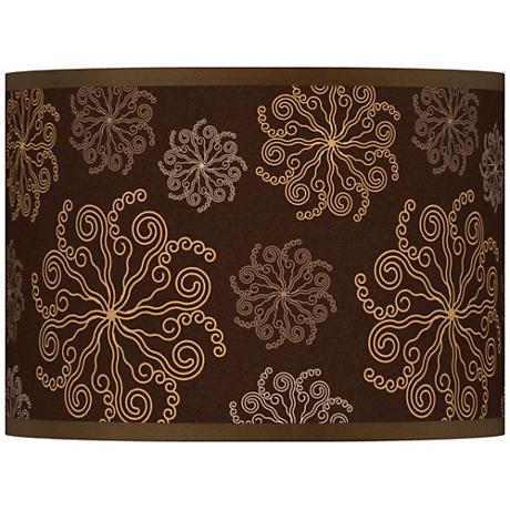 Chocolate Blossom Giclee Lamp Shade 13.5x13.5x10 (Spider)