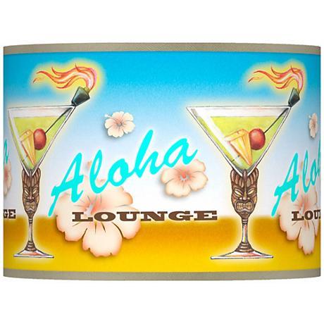 Aloha Lounge Giclee Lamp Shade 13.5x13.5x10 (Spider)