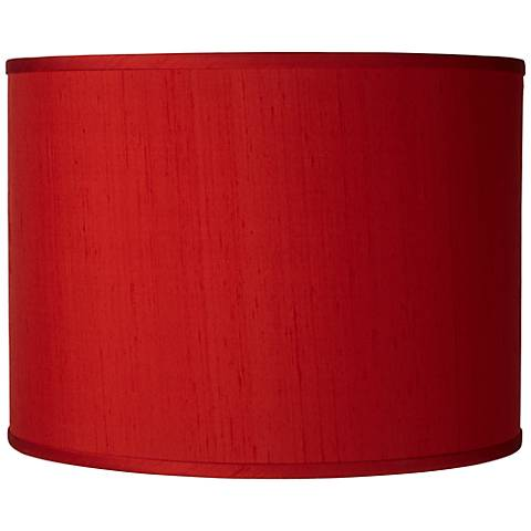 China Red Silk Dupioni Shade 13.5X13.5X10 (Spider)