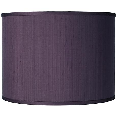 Eggplant Faux Silk Drum Shade 13.5X13.5X10 (Spider)