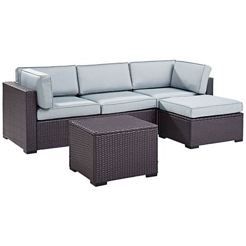 Biscayne Mist Fabric 4-Piece 4-Person Outdoor Seating Set