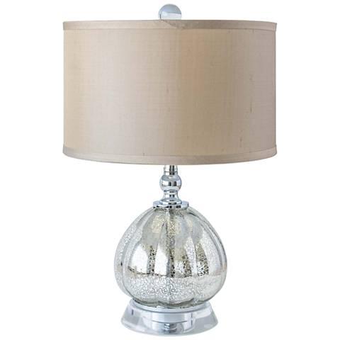 """Amari Antique Mercury 17 1/2"""" High Clove Accent Table Lamp"""