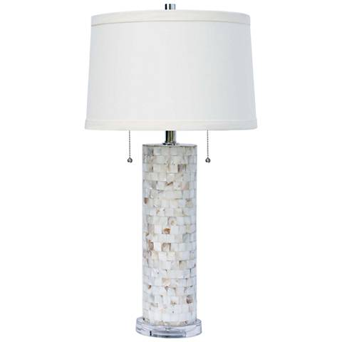 Regina Andrew Deva Mother of Pearl Table Lamp
