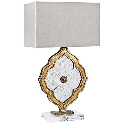 Regina Andrew Ornament Antique Gold Leaf Table Lamp