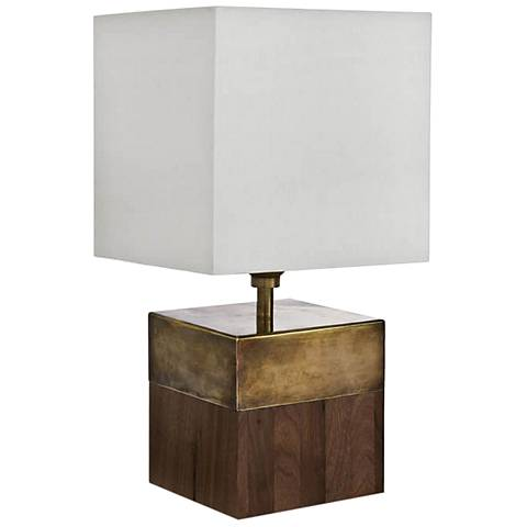"Regina Andrew Mambo Cube Walnut 14 1/4""H Accent Table Lamp"