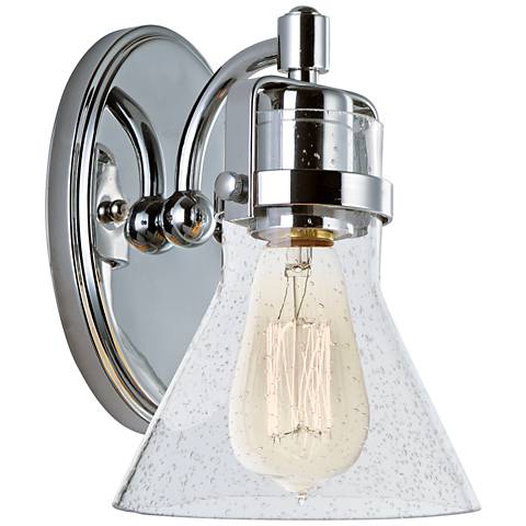 "Maxim Seafarer 8 1/4"" High Polished Chrome Wall Sconce"