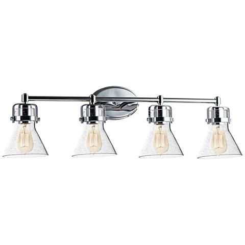 "Maxim Seafarer 33 1/4""W Polished Chrome 4-Light Bath Light"