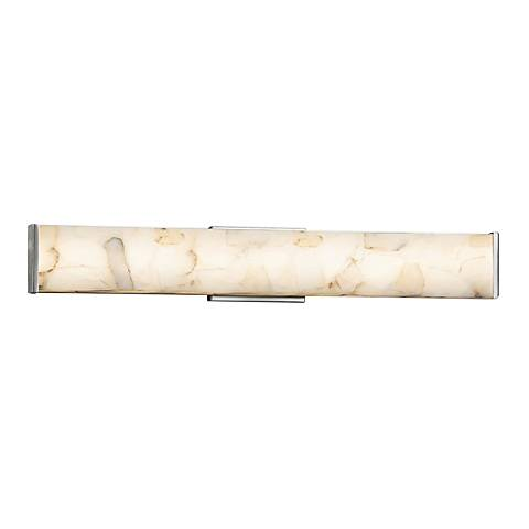 "Alabaster Rocks!™ Latitude 28 1/2""W Nickel LED Bath Light"