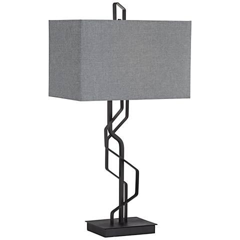 Kathy Ireland Studio Black Metal Table Lamp