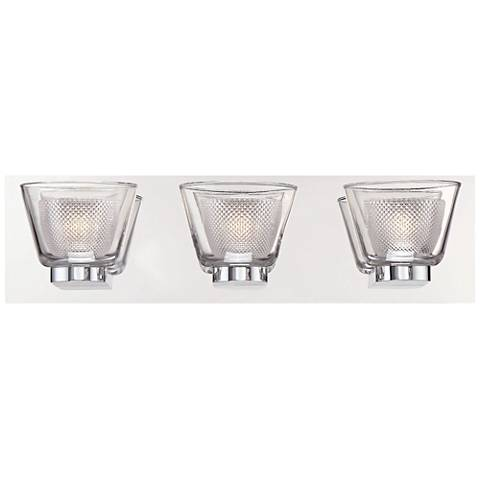 """Eurofase Trent 18 3/4"""" Wide Chrome 3-LED Bath Light"""