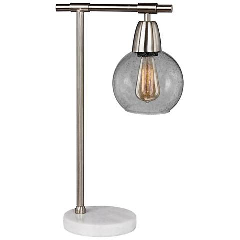 """Landsdown 18"""" High Brushed Steel Accent Table Lamp"""