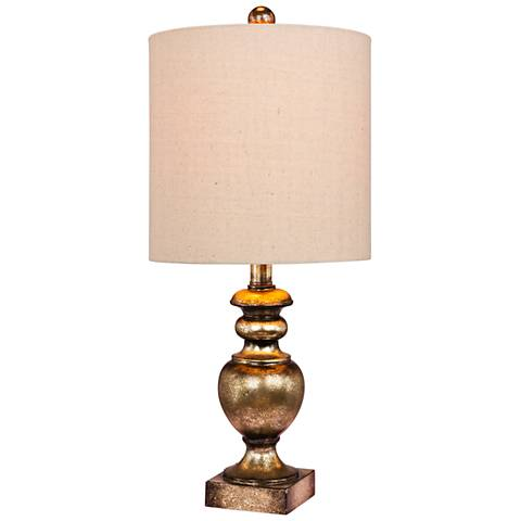 Cairo Gold Leaf w/ Brown Wash Textured Urn Accent Table Lamp