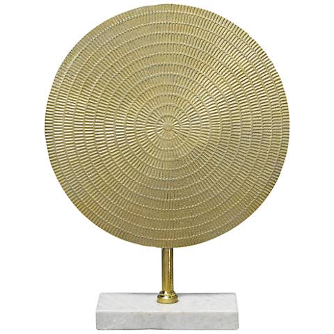 "Jamie Young Cleopatra 18 1/2""H Raw Gold Aluminum Sculpture"