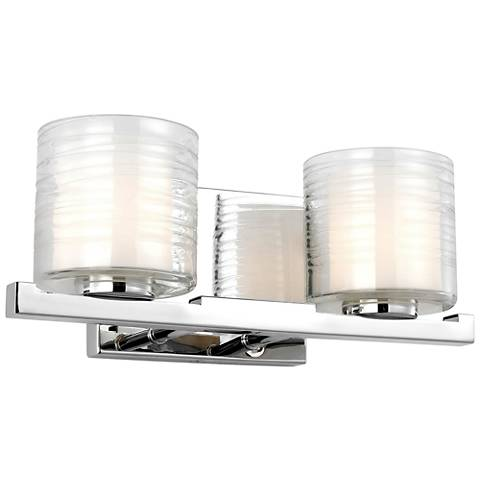 "Feiss Volo 5 1/2"" High Chrome 2-Light Wall Sconce"